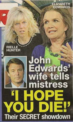 Rielle Hunter & Elizabeth Edwards in the National Enquirer