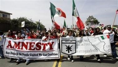 Illegals Protest