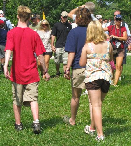 Teens on a leash