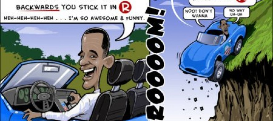 Obama Vroooom Vroooom! (Cartoon)