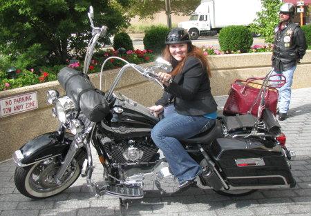 Biker chick Tabitha Hale
