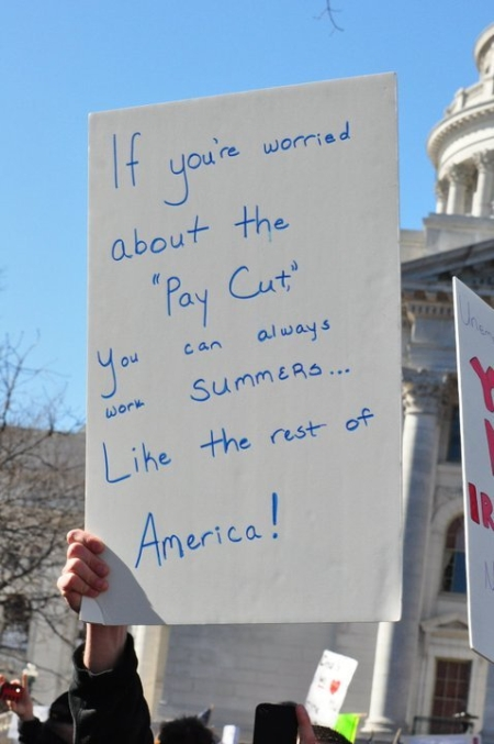 Tea party at the Wisconsin protests