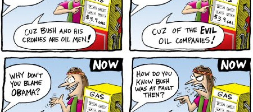 Cartoon: Oil Prices Then And Now