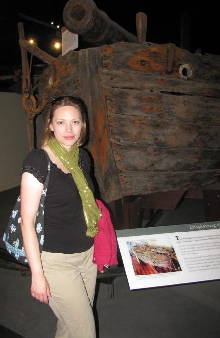 Skye and the gunboat Philadelphia