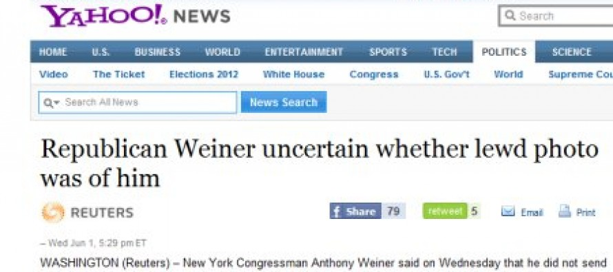 Picture: How You Can Tell Democrat Anthony Weiner Is Really Screwed