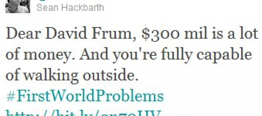 The Epic David Frum Smackdown Of The Day