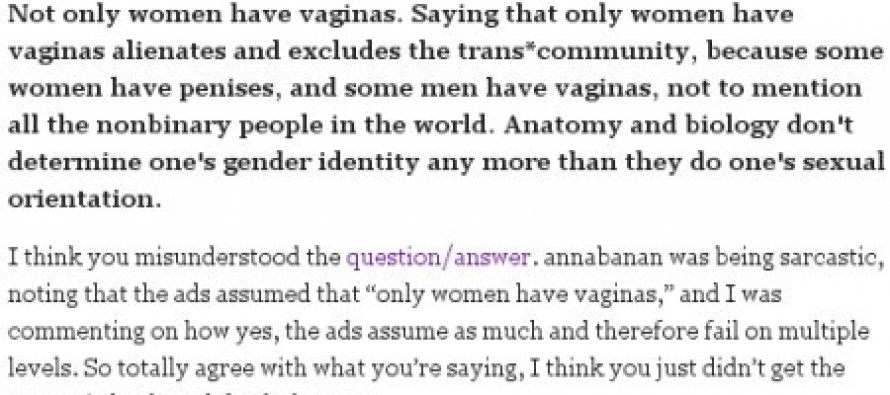 What Liberal Feminism Has Come To: Fighting Over Which Gender Has A Vagina