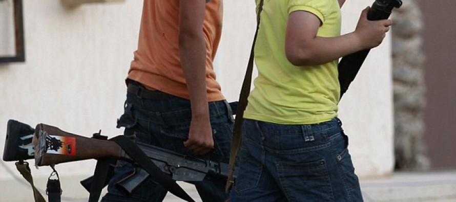 """What """"Our Side"""" Is Doing In Libya: 7 Year Old Libyan Rebels"""