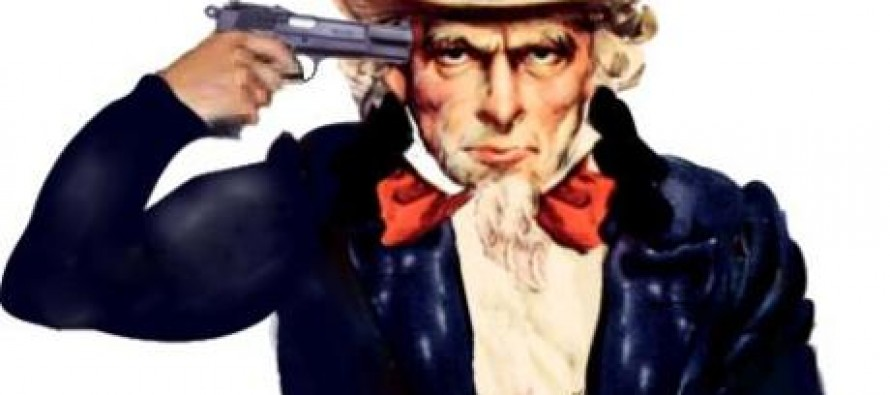 Raise Taxes Or The President Will Put A Bullet Into Uncle Sam's Head!