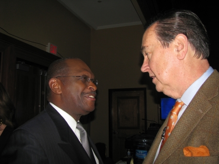 Herman Cain and Cal Thomas