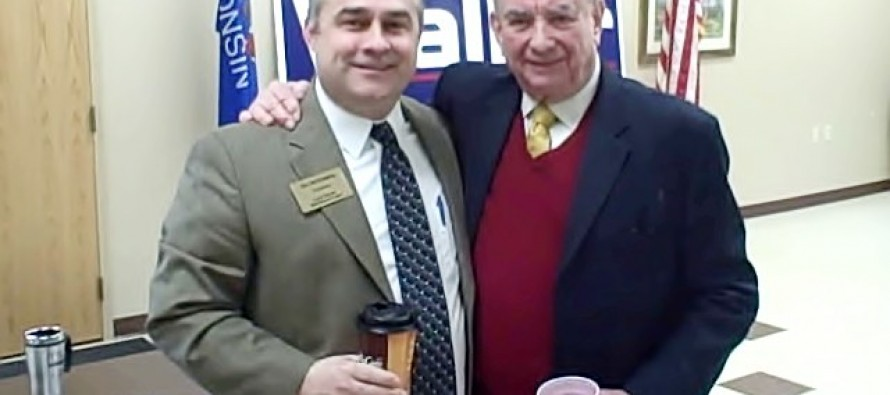 Former Wisconsin Gov. Tommy Thompson spoke to the Sauk County GOP today, and I just <em>happened </em>to be nearby…