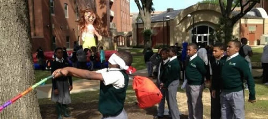 Black School Kids Take Bat to Piñata Shaped Like White Woman, Media Yawns