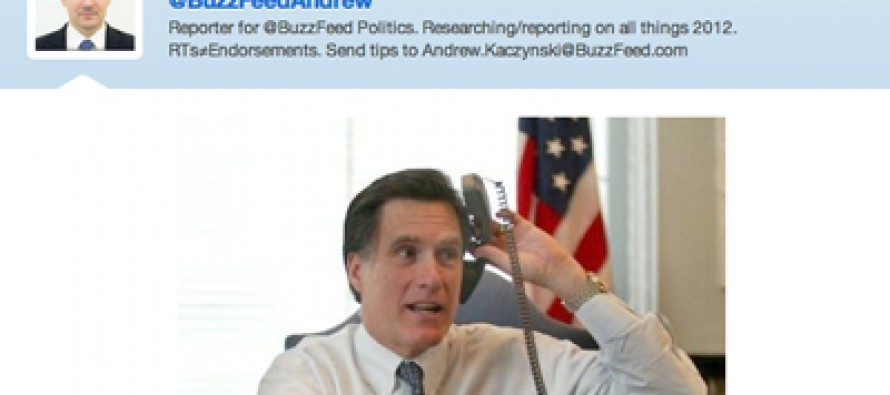 Buzz Feed Tries to Make Fun of Romney Over Telephone Photo