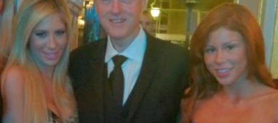 Bill Clinton Surrounded By Porn Starlets In Monaco