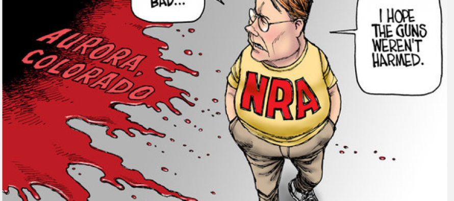 LA Times Cartoonist Capitalizes on Aurora Tragedy By Portraying NRA As Callous