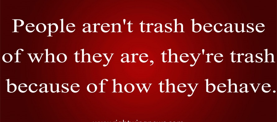 People Aren't Trash Because….