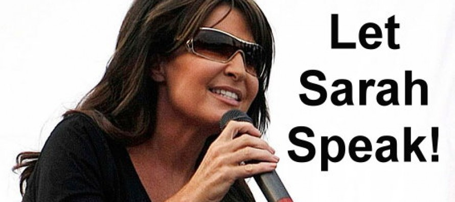 Let Sarah Speak! Do Your Part To Help Sarah Palin Get A Speaking Slot At The Republican Convention