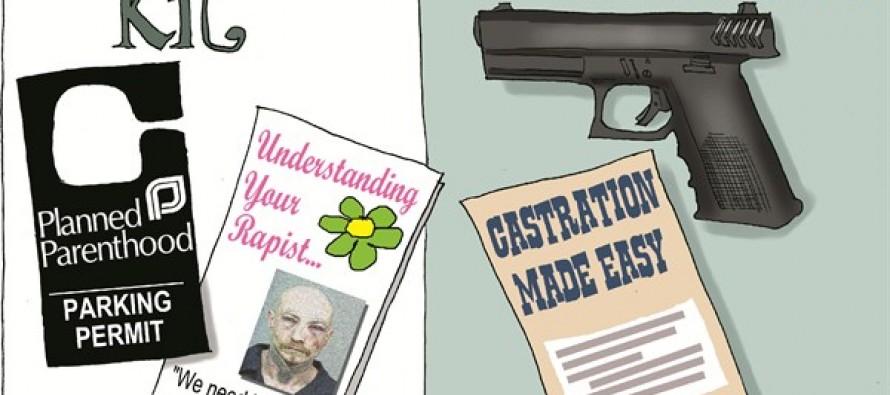 Liberals' Rape Kit (Cartoon)