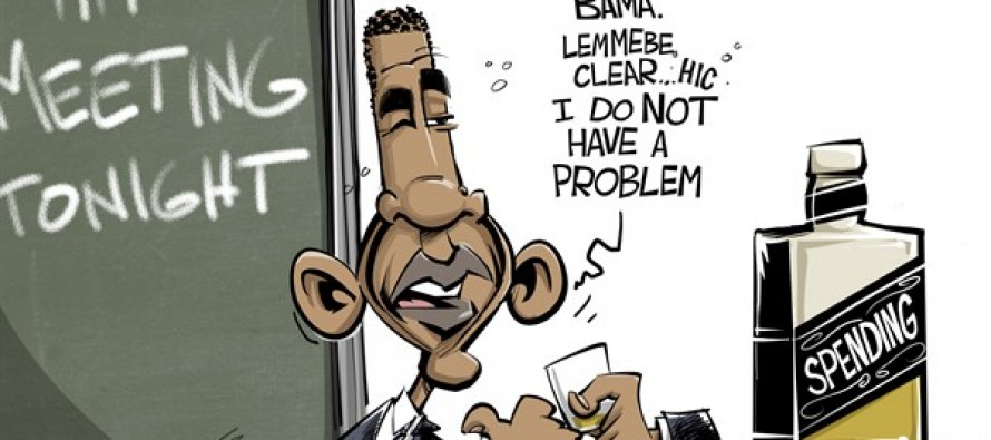 Spending problem (Cartoon)