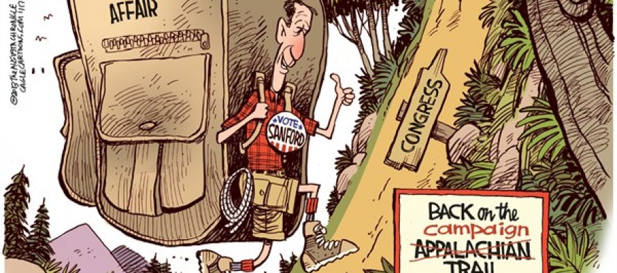 Back on the Campaign Appalachian Trail (Cartoon)