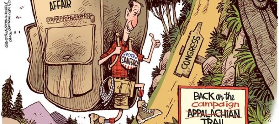 Back on the Campaign Appalachian Trail (Cartoon)