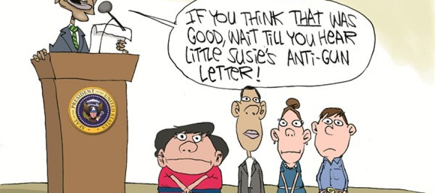 Obama Exploits Kids (Cartoon)