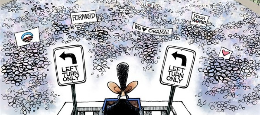 Obama's Second Term Vision (Cartoon)