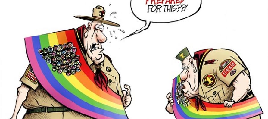 Gay Scouts (Cartoon)
