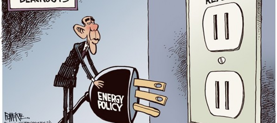 Obama Blackout (Cartoon)