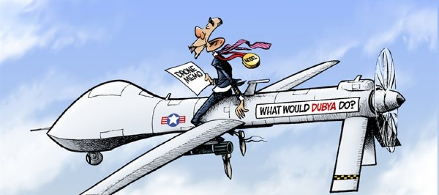 Obama Drones (Cartoon)