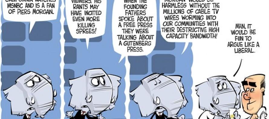 Arguing Piers Morgan (Cartoon)