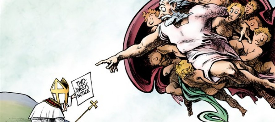 The Pope Resigns (Cartoon)