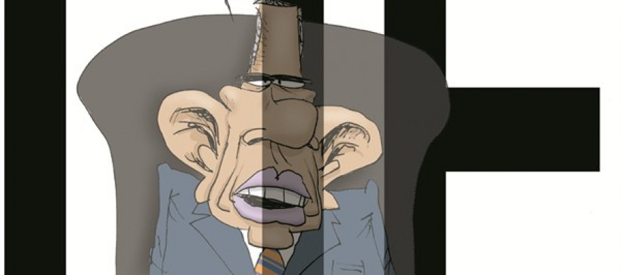 Obama Not Transparent (Cartoon)