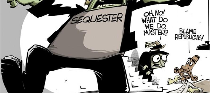 Obama's monster (Cartoon)