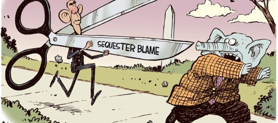 Sequester Scissors (Cartoon)