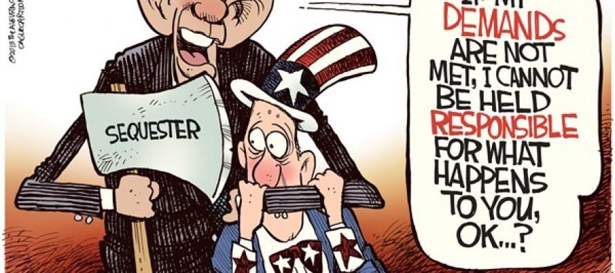 Sequester Ax (Cartoon)