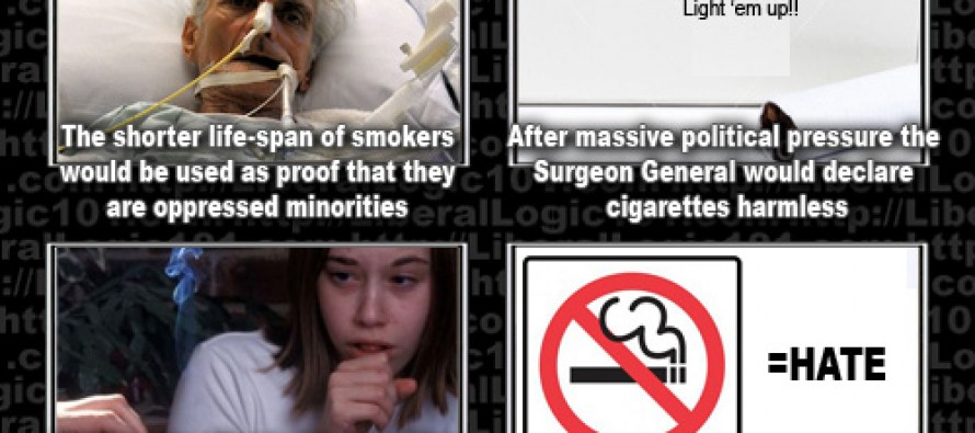 Liberal Logic 101: Smokers' Rights…