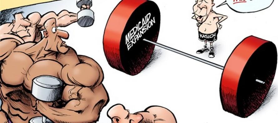 Kasich the Weightlifter (Cartoon)