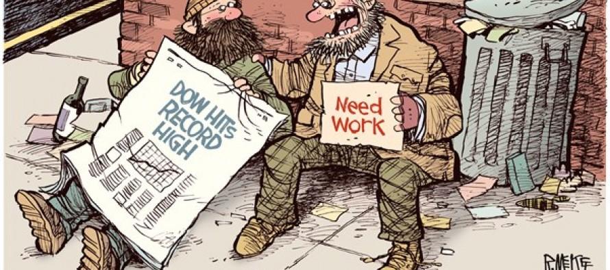 Dow Record High (Cartoon)