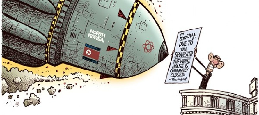North Korea Sequestered (Cartoon)