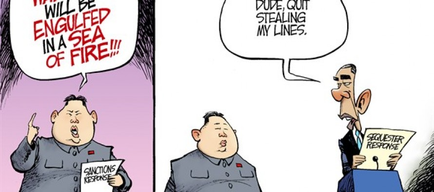 North Korea Rhetoric (Cartoon)