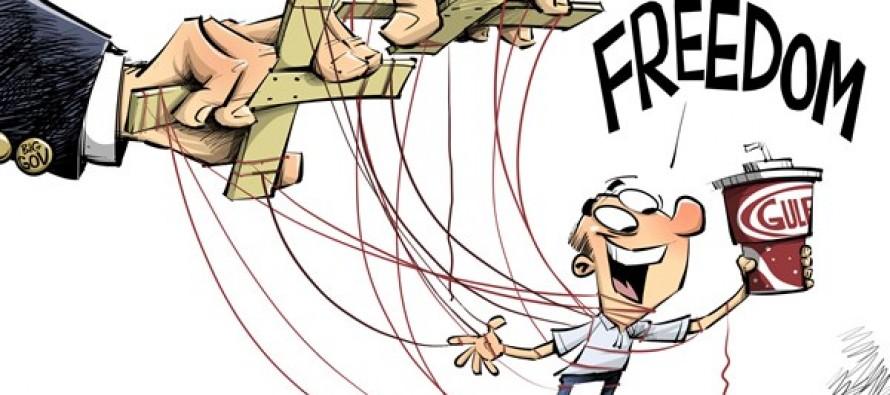 Big Gulp freedom (Cartoon)