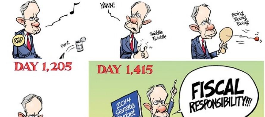 Senate Budget (Cartoon)