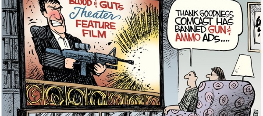 Comcast Bans Gun Ads (Cartoon)