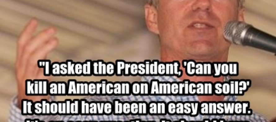 "Rand Paul, ""I asked the President, can you kill an American on American soil?"" (Pic/Quote)"