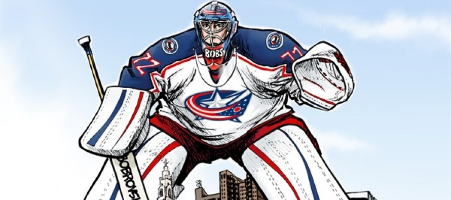 Blue Jackets Goalie (Cartoon)