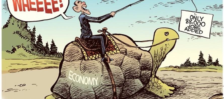 Slow Obama Economy (Cartoon)