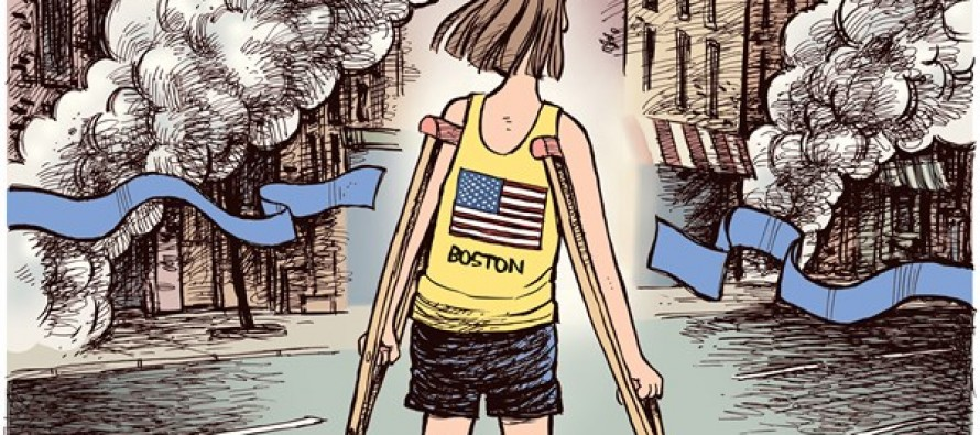 Boston Marathon Bombing (Cartoon)