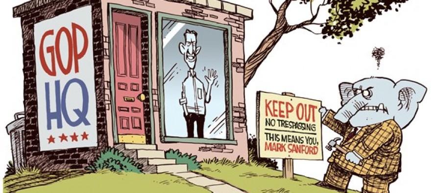 Mark Sanford Trespass (Cartoon)