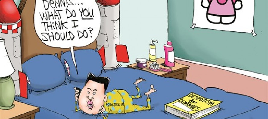 Kim Jong-Un and Rodman (Cartoon)